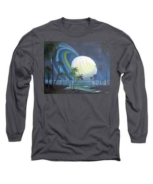 Tropical Moon Long Sleeve T-Shirt by Catherine Swerediuk