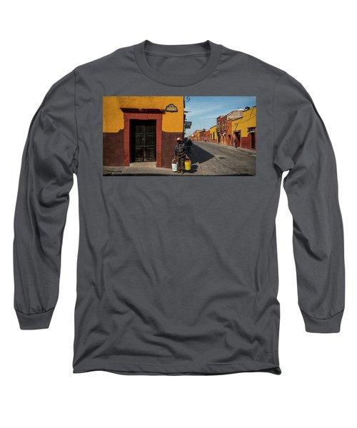 View Of Houses Along A Street, San Long Sleeve T-Shirt