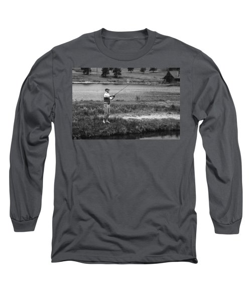 Long Sleeve T-Shirt featuring the photograph Vintage Fly Fishing by Ron White