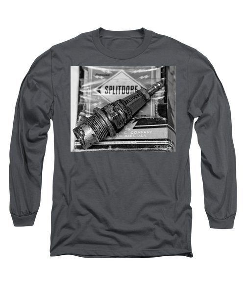 Long Sleeve T-Shirt featuring the photograph Vintage Sparkplugs by Wilma  Birdwell