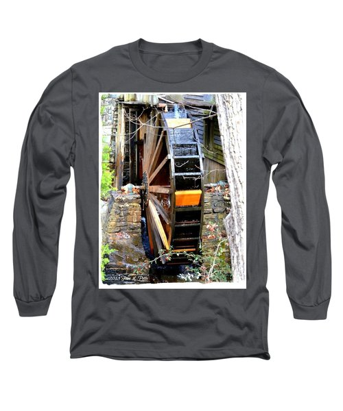 Long Sleeve T-Shirt featuring the photograph Water Wheel by Tara Potts