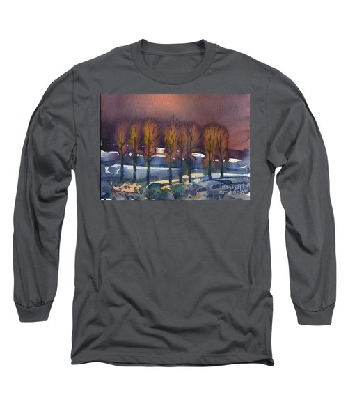Long Sleeve T-Shirt featuring the painting Winter Fantasy by Donald Maier