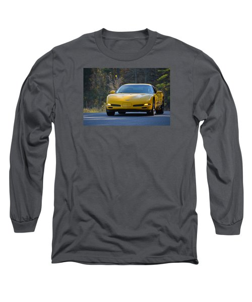 Yellow Corvette Long Sleeve T-Shirt