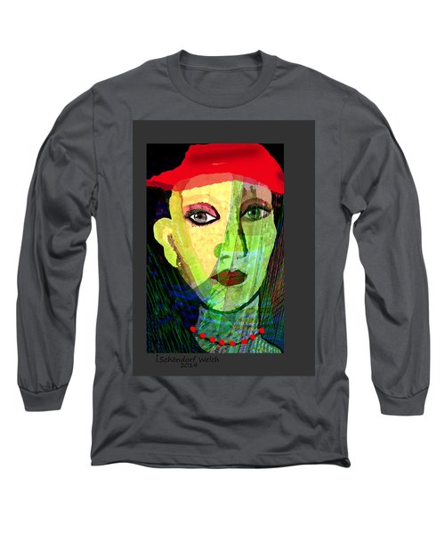 1084 - La  Signora ... Long Sleeve T-Shirt by Irmgard Schoendorf Welch