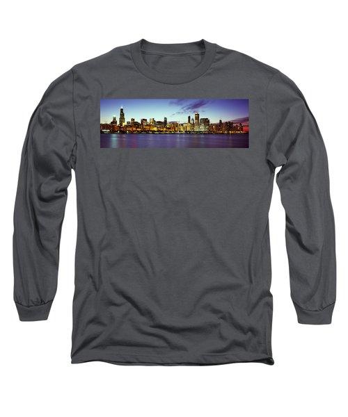 Buildings At The Waterfront, Lake Long Sleeve T-Shirt