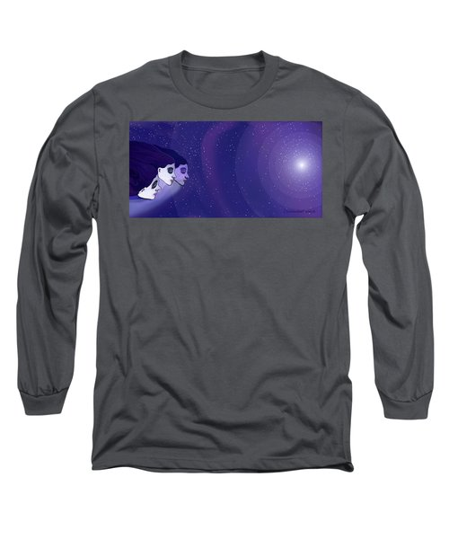 1208 Voyage Through Space And Time Long Sleeve T-Shirt by Irmgard Schoendorf Welch