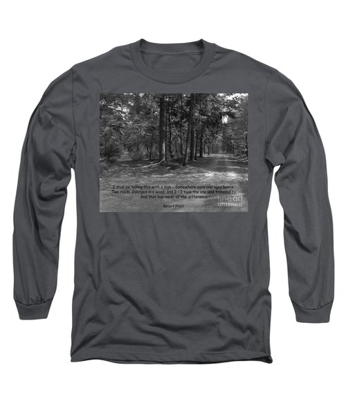 12a- Robert Frost  Long Sleeve T-Shirt by Joseph Keane
