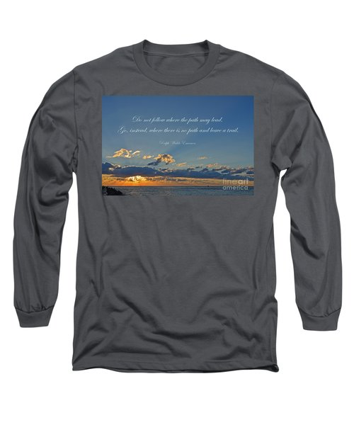 149- Ralph Waldo Emerson Long Sleeve T-Shirt by Joseph Keane
