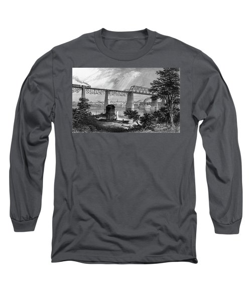 1800s 1870s 1872 View Of Louisville Ky Long Sleeve T-Shirt
