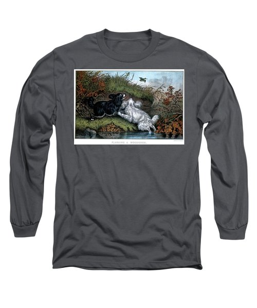 1860s Two Spaniel Dogs Flushing Long Sleeve T-Shirt