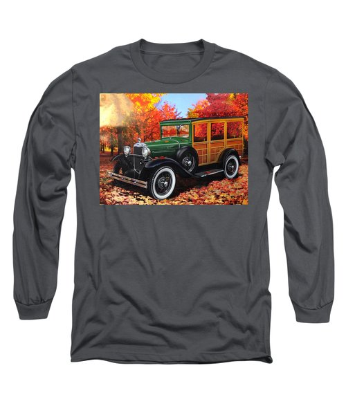 1931 Type 150-b Ford Long Sleeve T-Shirt by Carlos Avila