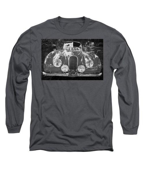 1954 Jaguar Xk 120 Se Ots Bw Long Sleeve T-Shirt