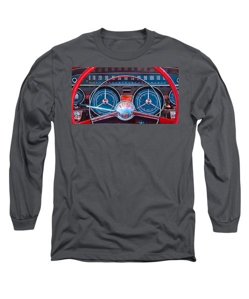 1959 Buick Lesabre Steering Wheel Long Sleeve T-Shirt