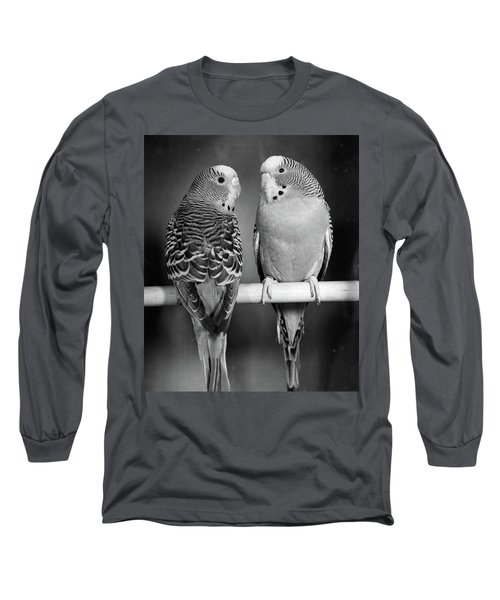 1960s Pair Of Parakeets Perched Long Sleeve T-Shirt