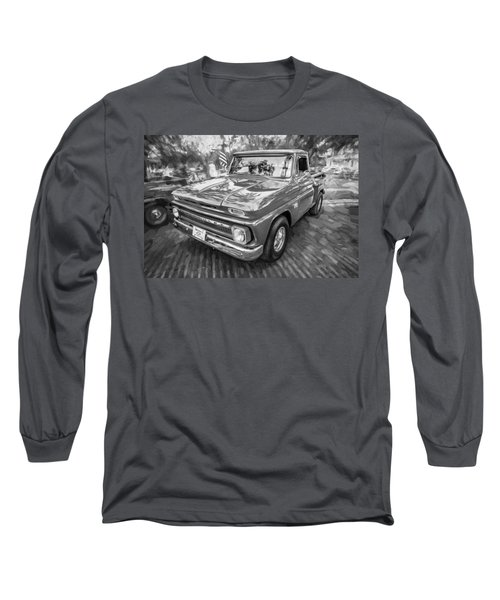 1966 Chevy C10 Pick Up Truck Painted Bw Long Sleeve T-Shirt