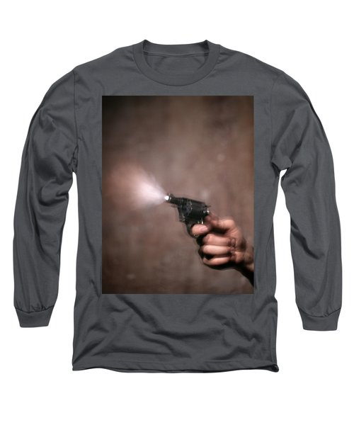 1980s Blur Motion Of A Hand Shooting Long Sleeve T-Shirt
