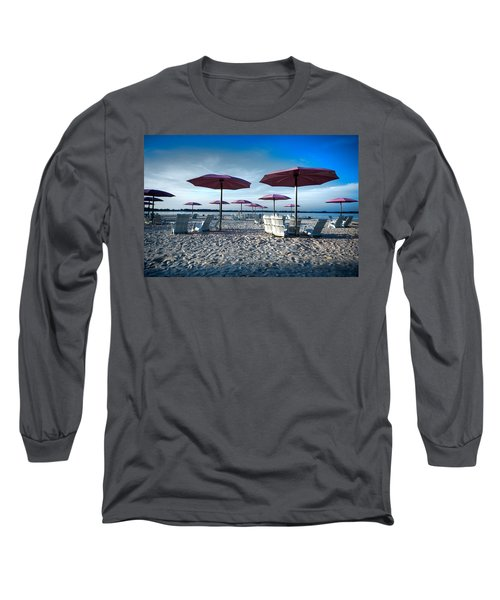 Umbrellas On The Beach Long Sleeve T-Shirt