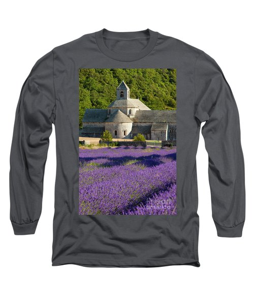 Abbaye De Senanque Long Sleeve T-Shirt by Brian Jannsen