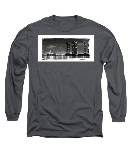 Long Sleeve T-Shirt featuring the photograph American Airlines Arena And Condominiums by Carsten Reisinger