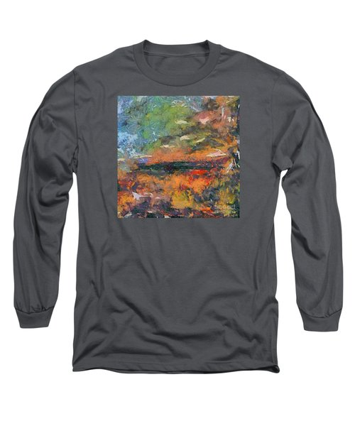 Long Sleeve T-Shirt featuring the painting At Dawn by Dragica  Micki Fortuna