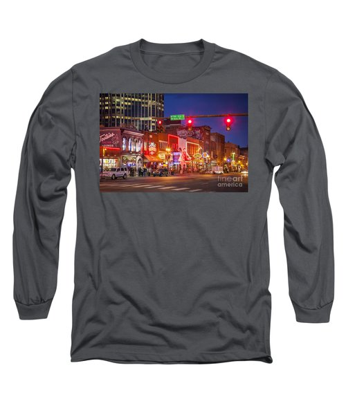 Broadway Street Nashville Long Sleeve T-Shirt by Brian Jannsen