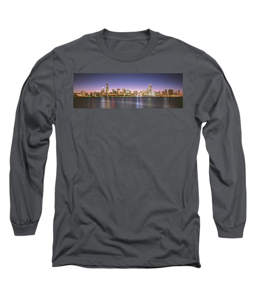 Buildings At The Waterfront, Chicago Long Sleeve T-Shirt