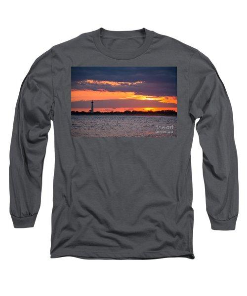 Cape May Lighthouse Sunset Long Sleeve T-Shirt