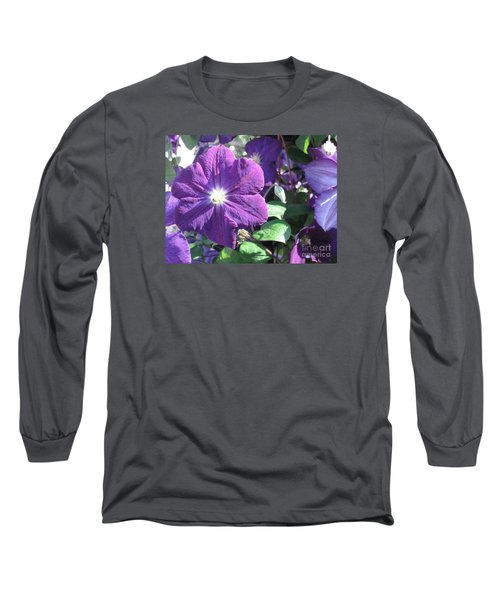 Clematis With Blazing Center Long Sleeve T-Shirt