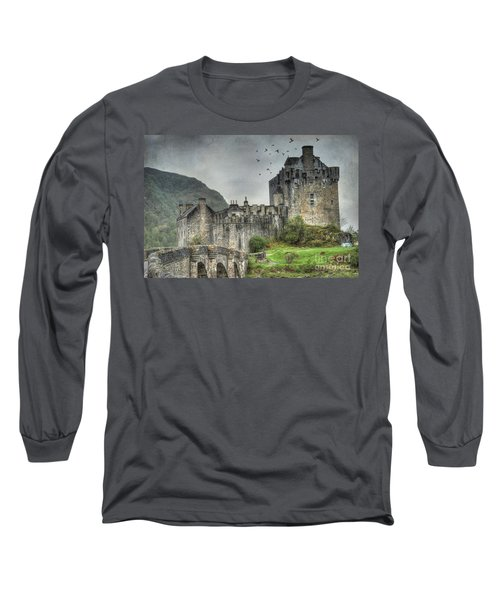 Eilean Donan Castle Long Sleeve T-Shirt by Juli Scalzi