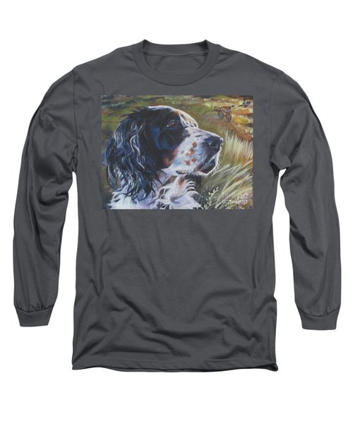 English Setter Long Sleeve T-Shirt by Lee Ann Shepard