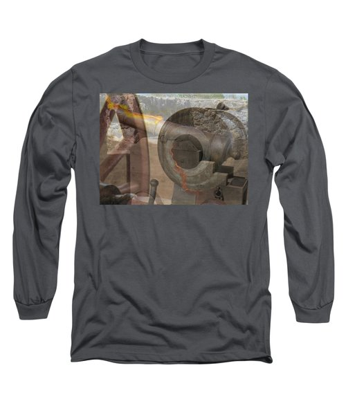 Long Sleeve T-Shirt featuring the photograph Fire In The Hole by Ella Kaye Dickey