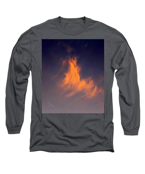 Long Sleeve T-Shirt featuring the photograph Fire In The Sky by Jeanette C Landstrom
