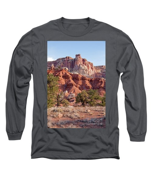 Golden Throne Capitol Reef National Park Long Sleeve T-Shirt