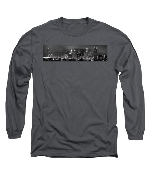 Gotham City - Los Angeles Skyline Downtown At Night Long Sleeve T-Shirt by Jon Holiday