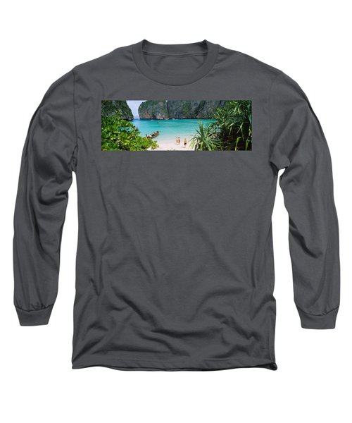 High Angle View Of Tourists Long Sleeve T-Shirt