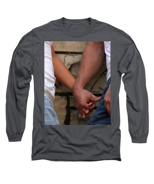 Long Sleeve T-Shirt featuring the photograph I Wanna Hold Your Hand by Lesa Fine