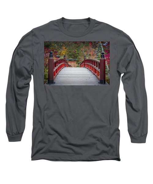 Long Sleeve T-Shirt featuring the photograph Japanese Bridge by Sebastian Musial