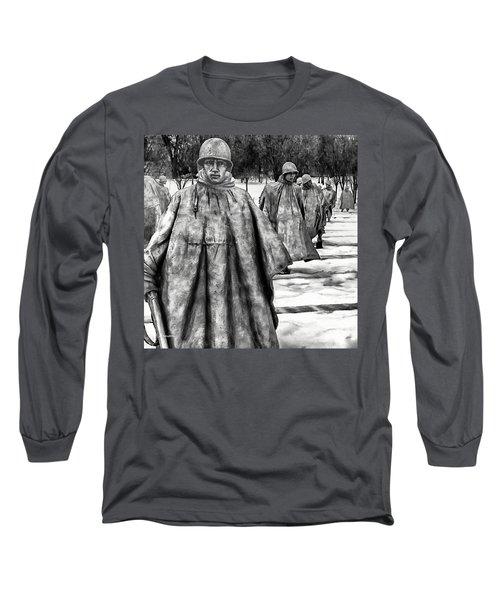 Korean War Memorial Washington Dc Long Sleeve T-Shirt