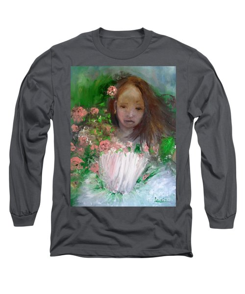 Mary Rosa Long Sleeve T-Shirt by Laurie L