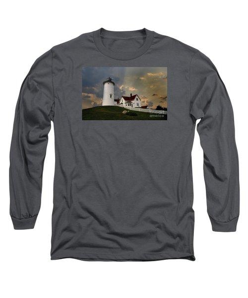 Nobska Lighthouse Color  Long Sleeve T-Shirt
