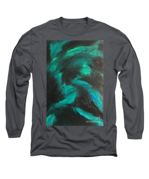 Long Sleeve T-Shirt featuring the painting Northern Light by Jacqueline McReynolds