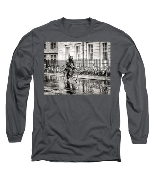 Rainy Day Ride Long Sleeve T-Shirt by William Beuther