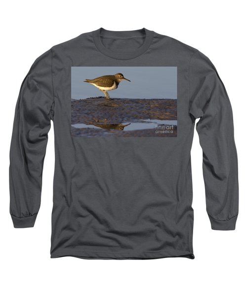 Spotted Sandpiper Reflection Long Sleeve T-Shirt