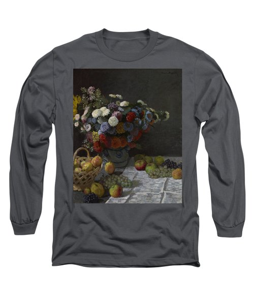 Still Life With Flowers And Fruit Long Sleeve T-Shirt