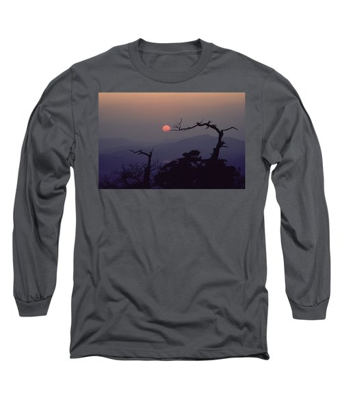 Tree And Sun From Mt Scott Long Sleeve T-Shirt