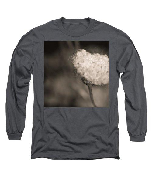 White Whisper Long Sleeve T-Shirt by Sara Frank