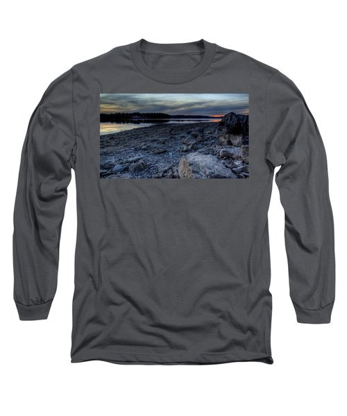 Winter Sunset On The Lake Long Sleeve T-Shirt