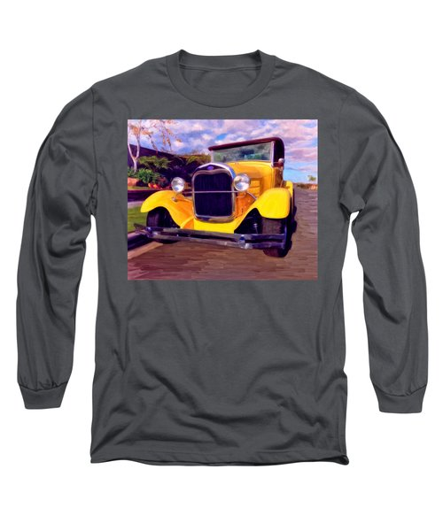 Long Sleeve T-Shirt featuring the painting '28 Ford Pick Up by Michael Pickett