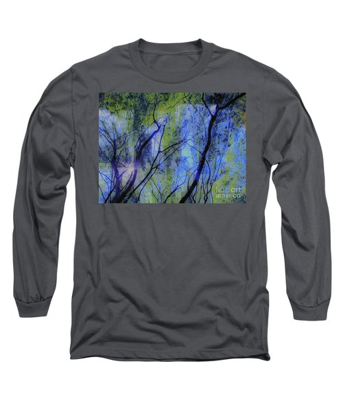 Abstract Forest Long Sleeve T-Shirt by France Laliberte