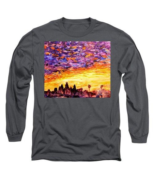 Angkor Sunrise Long Sleeve T-Shirt